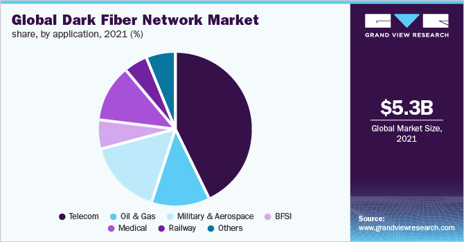 Global dark fiber network market share
