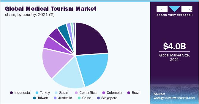 Global medical tourism market share