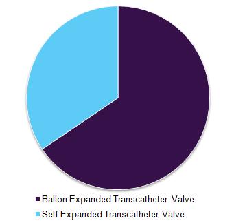 Global transcatheter pulmonary valve market by technology, 2015 (%)
