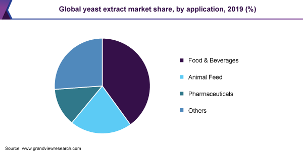 Global yeast extract market share, by application, 2019 (%)